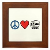 Peace Love & Camping Framed Tile