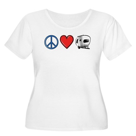 Peace Love & Camping Women's Plus Size Scoop Neck