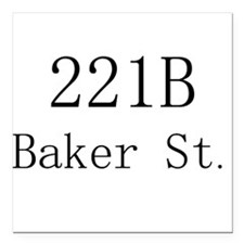 "221B Square Car Magnet 3"" x 3"""