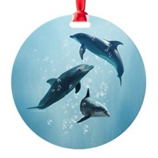 Dolphins in the Sea Ornament