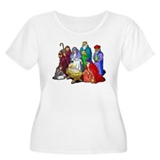 Christmas_nativity_scene.png Plus Size T-Shirt
