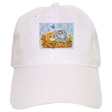 """Watching kittens"" Baseball Cap"