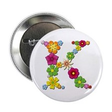 K Bright Flowers Button