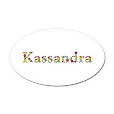 Kassandra Bright Flowers 35x21 Oval Wall Decal