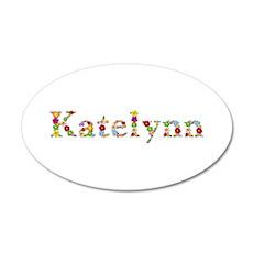Katelynn Bright Flowers 20x12 Oval Wall Decal