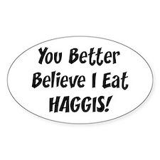 Haggis Oval Stickers