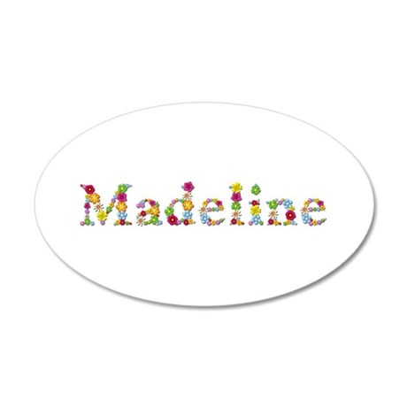 Madeline Bright Flowers 35x21 Oval Wall Decal