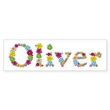 Oliver Bright Flowers Bumper Bumper Sticker