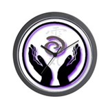 Reiki hands wall clock