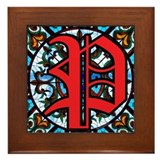 Stained Glass P Framed Tile