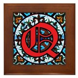 Stained Glass Q Framed Tile