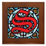 Stained Glass S Framed Tile