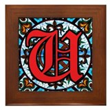 Stained Glass U Framed Tile