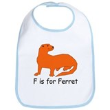 F is for Ferret Bib