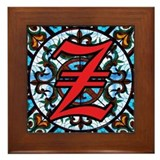 Stained Glass Z Framed Tile
