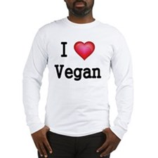 I LOVE VEGAN Long Sleeve T-Shirt