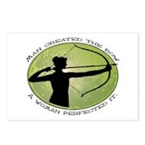 women's archery competition   Postcards (Package o
