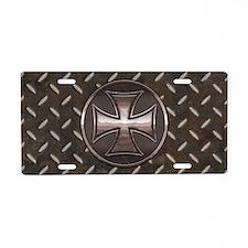 grid-iron-malt-smT Aluminum License Plate