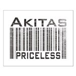 Akita Priceless Weathered Barcode Small Poster