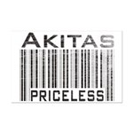 Akita Priceless Weathered Barcode Mini Poster Prin