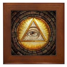 All Seeing Eye Framed Tile