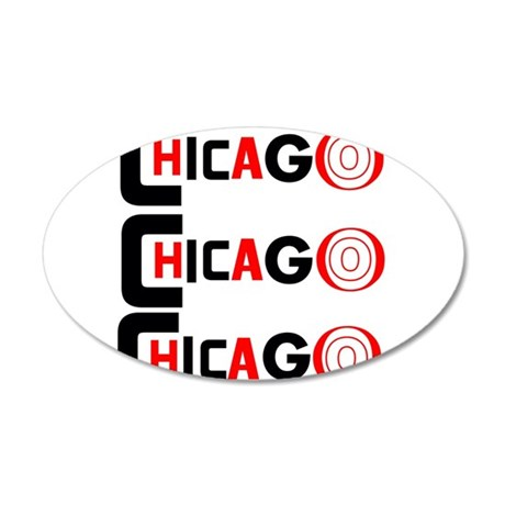 Chicago Pride 35x21 Oval Wall Decal