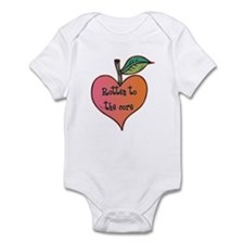 Rotten to the Core Funny Baby Bodysuit