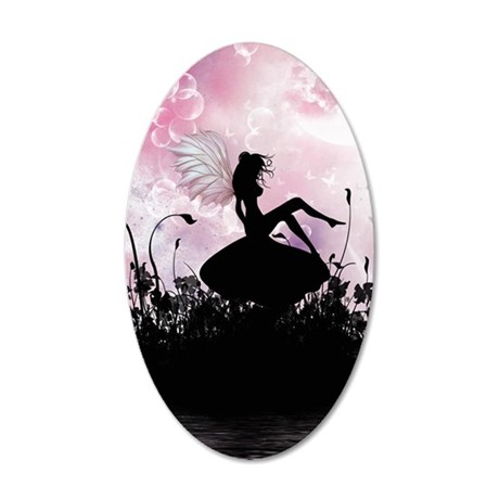 Fairy Silhouette 35x21 Oval Wall Decal