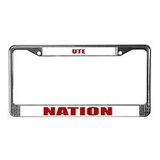Ute Nation License Plate Frame