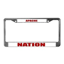 Apache Nation License Plate Frame
