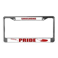 Shoshone Pride License Plate Frame