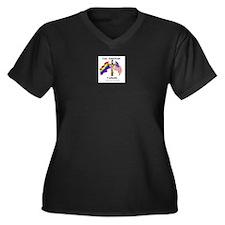 Unique Religion and beliefs Women's Plus Size V-Neck Dark T-Shirt