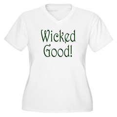 Wicked Good! Women's Plus Size V-Neck T-Shirt