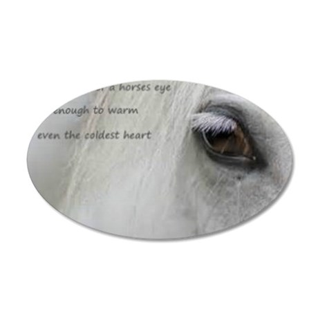 The softness of a horses eye 35x21 Oval Wall Decal
