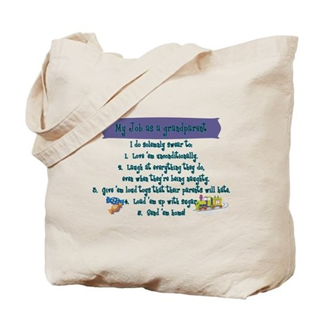 A Grandparent's Job Tote Bag