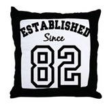 Established Since 1982 Throw Pillow