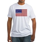 American Atheist Fitted USA T-Shirt