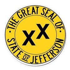 State of Jefferson Seal Round Car Magnet