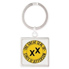 State of Jefferson Seal Square Keychain
