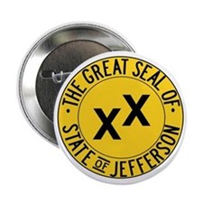 "State of Jefferson Seal 2.25"" Button"