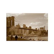 Brooklyn Bridge Sepia Rectangle Magnet