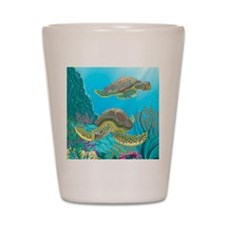 Cute Sea Turtles Shot Glass