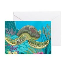 Cute Sea Turtles Greeting Card