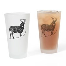 White Tailed Deer Trophy Buck Drinking Glass