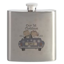 Just Married 1st Christmas 2013 Flask