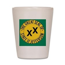 Jefferson Flag Shot Glass