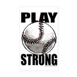 Play Strong Baseball Rectangle Decal