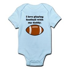 I Love Playing Football With My Daddy Body Suit