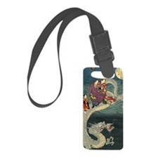 Fight the Dragon Japanese Luggage Tag