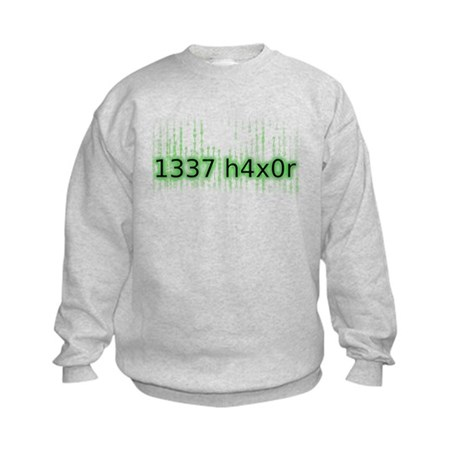 1337 h4x0r Kids Sweatshirt